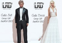 Gala Suit and White Dress September 2015 Group Gift by LinealRise Design - Teleport Hub - teleporthub.com