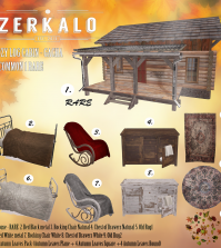 New Release: Cozy Log Cabin Gacha Set For Arcade Event by Zerkalo - Teleport Hub - teleporthub.com