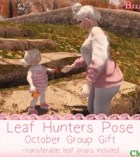 Leaf Hunters Pose October 2015 Group Gift by Buglets - Teleport Hub - teleporthub.com