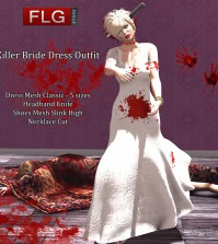 Killer Bride Dress October 2015 Group Gift by FLG Store - Teleport Hub - teleporthub.com