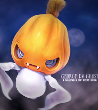 George da Ghost Wearable Pet Gift by Ohmai - Teleport Hub - teleporthub.com