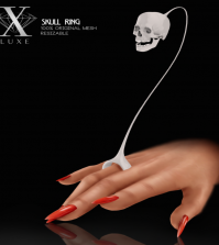 Skull Ring Halloween Gift by LUXE - Teleport Hub - teleporthub.com