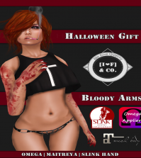 Bloody Arm Tattoo With Mesh Body Appliers October 2015 Subscriber Gift by [I