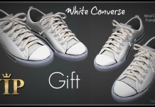 White Low Top Converse Sneakers 1L Promo Gift by VIP Outfitters - Teleport Hub - teleporthub.com