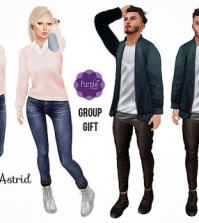 Poses For Men and Women Group Gift by Purple Poses - Teleport Hub - teleporthub.com
