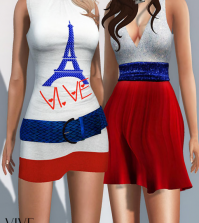 Peace ForParis Dresses Group Gift by Entice - Teleport Hub - teleporthub.com