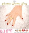 Leather Ribbon Rings 4 Colors Group Gift by ASO! - Teleport Hub - teleporthub.com