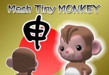 Tiny Monkey Avatar New Year Gift by Risusipo Jun - Teleport Hub - teleporthub.com