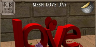 Mesh Love Day Valentine 2016 Group Gift by RnB Furniture - Teleport Hub - teleporthub.com