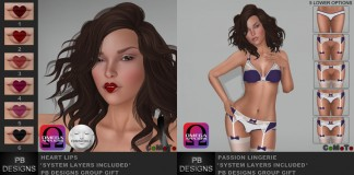 Heart Lips and Passion Lingerie Group Gift by PB Designs - Teleport Hub - teleporthub.com