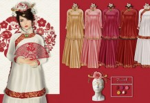 Chinese Dress 2016 New Year Group Gift by Zenith - Teleport Hub - teleporthub.com