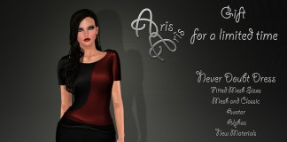 Never Doubt Dress Limited Time 1L Promo Gift by ArisAris - Teleport Hub - teleporthub.com