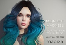 Free Hair Thread Midnight Madness 24 Hour Gift by Magika - Teleport Hub - teleporthub.com