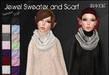 Jewel Sweater and Scarf Midnight Madness 24 Hour Gift by SAKIDE - Teleport Hub - teleporthub.com