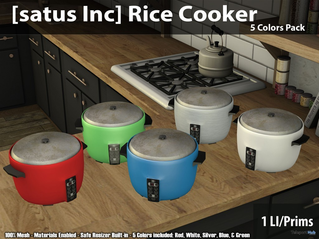 New Release: Rice Cooker by [satus Inc] - Teleport Hub - teleporthub.com