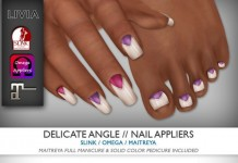 Delicate Angle Nails February 2016 Group Gift by LIVIA - Teleport Hub - teleporthub.com