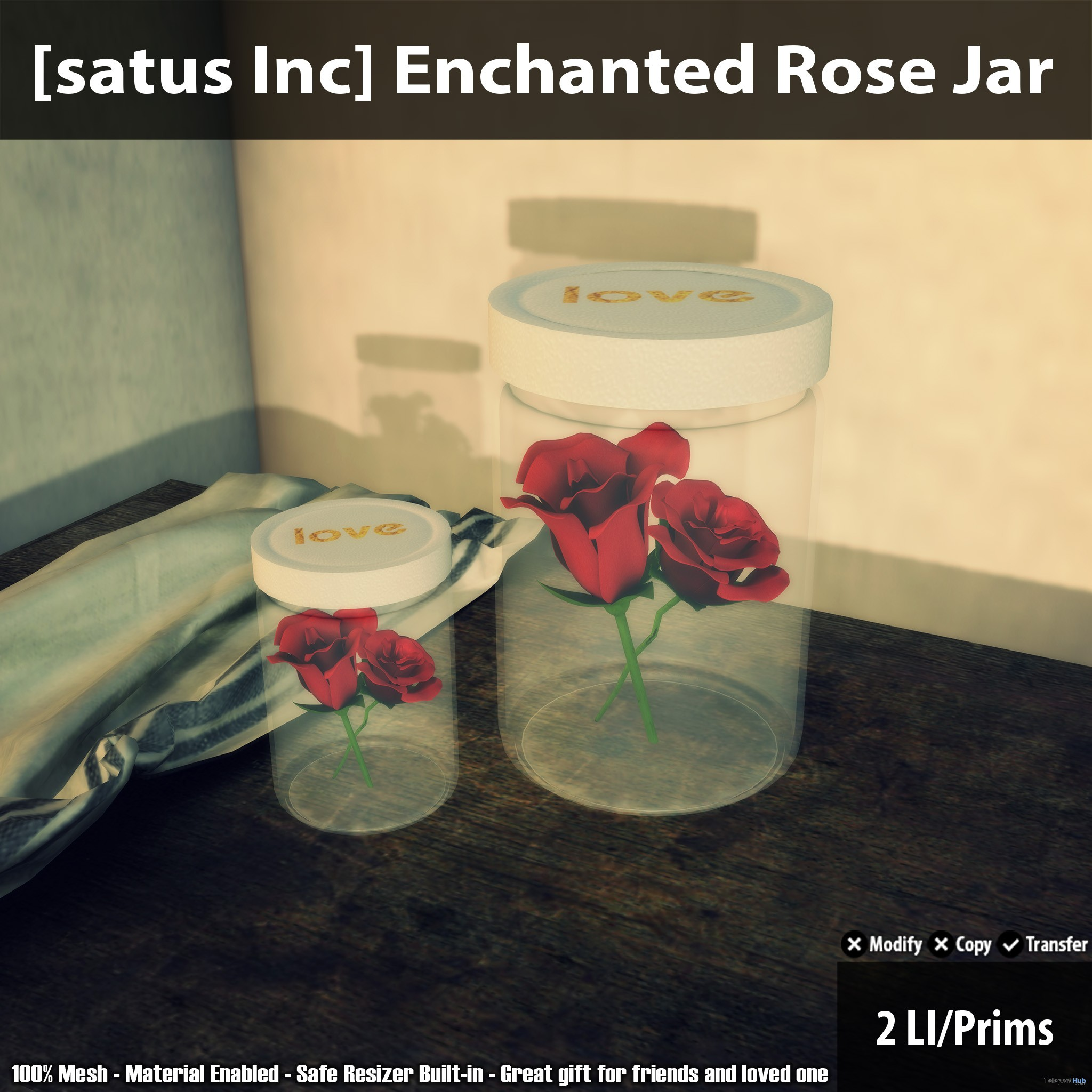 New Release Enchanted Rose Jar By Satus Inc Teleport