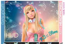 Kitty Headphone with HUD Group Gift by NS - Teleport Hub - teleporthub.com