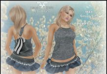 Poppy Outfit Top & Skirt May 2016 Group Gift by FA CREATIONS - Teleport Hub - teleporthub.com