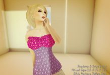 Raspberry & Grape Corset May 2016 Group Gift by Lemonade Couture - Teleport Hub - teleporthub.com