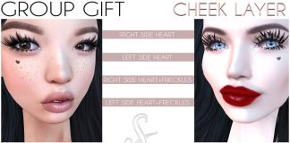Heart Cheek Layer For Catwa Head Group Gift by SlackGirl - Teleport Hub - teleporthub.com