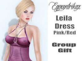 Leila Pink Dress with Appliers May 2016 Group Gift by Egoxentrikax - Teleport Hub - teleporthub.com
