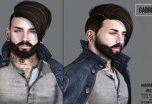 Gabriel Hair May 2016 Group Gift by Speakeasy - Teleport Hub - teleporthub.com