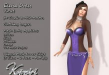 Elena Dress Violet And Appliers Group Gift by Kamiri - Teleport Hub - teleporthub.com