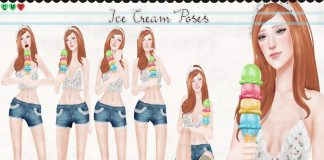 Ice Cream Poses Pack Group Gift by Imeka - Teleport Hub - teleporthub.com