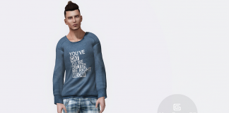 Blue Sweater and Shorts For Men Group Gift by Gizza Creations - Teleport Hub - teleporthub.com