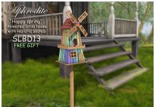 Happy Spring Bird House SL13B Gift by Aphrodite Shop - Teleport Hub - teleporthub.com