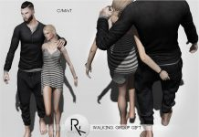 Walking Couple Pose Group Gift by RK Poses - Teleport Hub - teleporthub.com