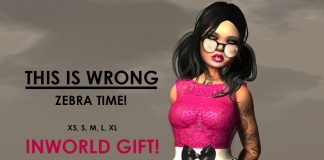 Zebra Time Dress Gift by THIS IS WRONG - Teleport Hub - teleporthub.com