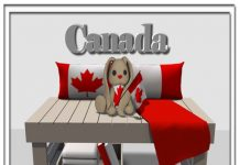 Canada Wabet On A Bench Group Gift by Zen Creations - Teleport Hub - teleporthub.com