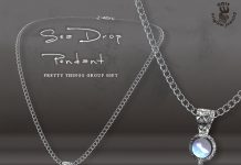 Sea Drop Pendant Pretty Things Mall Group Gift by GDit Jewelry - Teleport Hub - teleporthub.com