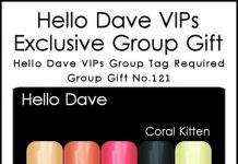 Coral Kitten Nail Applier Group Gift by Hello Dave - Teleport Hub - teleporthub.com