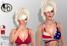 Libby American Flag Crop Top 49L Promo by #bubbles - Teleport Hub - teleporthub.com