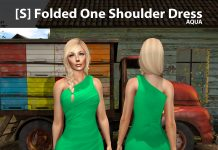 New Release: [S] Folded One Shoulder Dress by [satus Inc] - Teleport Hub - teleporthub.com