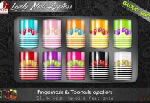Slink Lovely Fingernails and Toenails Appliers Group Gift by SHOCK Factory - Teleport Hub - teleporthub.com