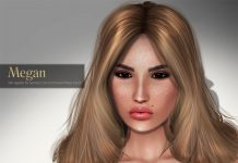 Megan Skin Applier for Genesis Lab Mesh Head Gift by AVENGE - Teleport Hub - teleporthub.com