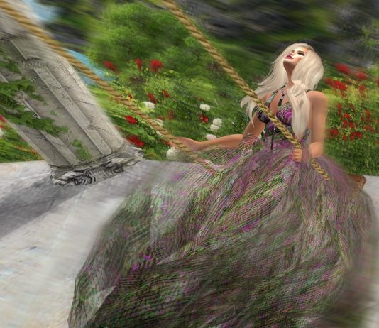 Rococo-Candy Gown With Appliers Group Gift by Paris METRO Couture - Teleport Hub - teleporthub.com
