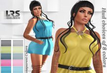 Rennea Dress Fat Pack 75L Promo by LRS Creations - Teleport Hub - teleporthub.com