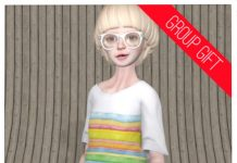 Kid Doll Tee Pastel Stripe Group Gift by COCO Designs - Teleport Hub - teleporthub.com