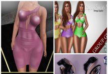 Dress, Swimsuit, and Shoes Phat Fair July 2016 Group Gifts - Teleport Hub - teleporthub.com