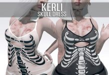 Kerli Skull Dress Group Gift by NANA - Teleport Hub - teleporthub.com