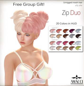 Duo Zip Hair 20 Colors Group Gift by Amacci - Teleport Hub - teleporthub.com