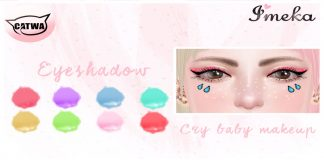 Cry Baby Makeup For Catwa Head Group Gift by Imeka - Teleport Hub - teleporthub.com