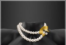 Pearl Necklace With Gold Ribbon CCB August 2016 Group Gift by LDG - Teleport Hub - teleporthub.com