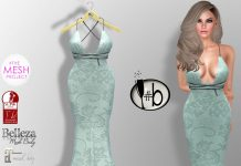 Mint Green Layla Lace Gown 75L Promo by #bubbles - Teleport Hub - teleporthub.com