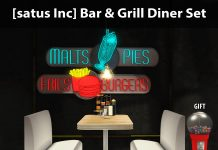 New Release: Bar & Grill Diner Set by [satus Inc] - Teleport Hub - teleporthub.com